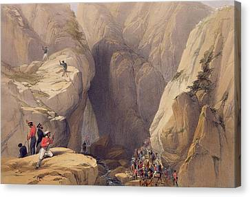 Mountain Canvas Print - Entrance To The Kojak Pass From Parush by James Atkinson