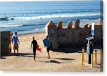 Entrance To The Lineup Canvas Print by Ron Regalado