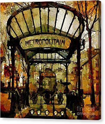Entrance To The Paris Metro Canvas Print