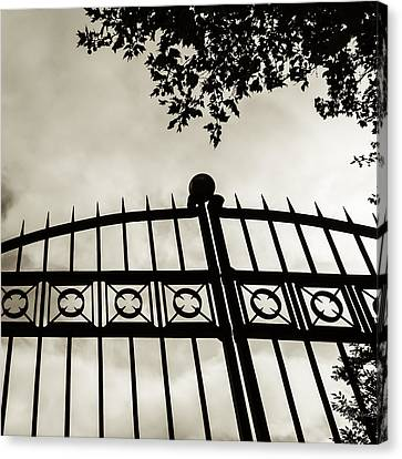 Canvas Print featuring the photograph Entrances To Exits - Gates by Steven Milner