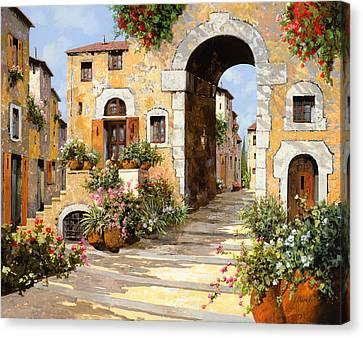 Entrata Al Borgo Canvas Print by Guido Borelli