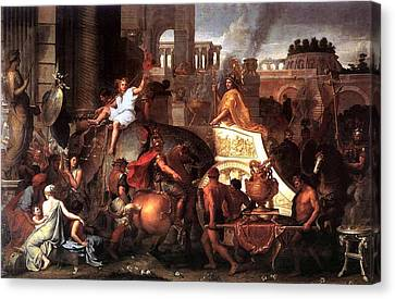 Entry Of Alexander  Canvas Print by Charles LeBrun