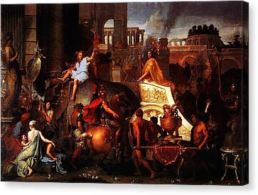 Entry Of Alexander Into Babylon Canvas Print by MotionAge Designs