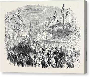 Entry Of The King Of Prussia Into Knigsberg The Procession Canvas Print by English School