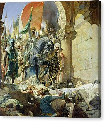 Entry Of The Turks Of Mohammed II Canvas Print by Benjamin Constant
