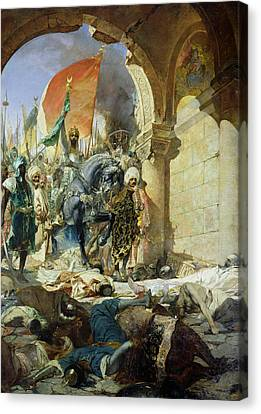 Entry Of The Turks Of Mohammed II Into Constantinople Canvas Print by Benjamin Constant