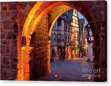 Medieval Entrance Canvas Print - Entry To Riquewihr by Brian Jannsen