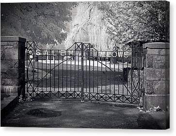 Entry To Salem Willows Canvas Print by Jeff Folger