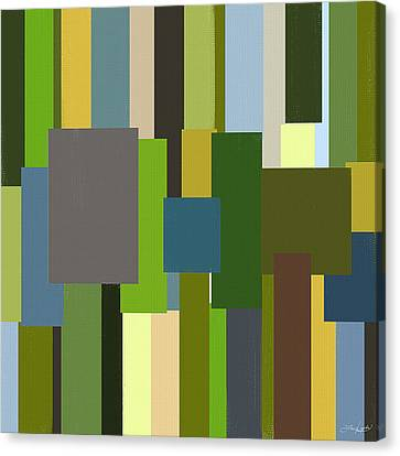 Green And Yellow Abstract Canvas Print - Envious by Lourry Legarde