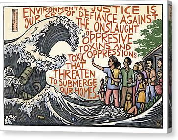 Racism Canvas Print - Environmental Justice by Ricardo Levins Morales