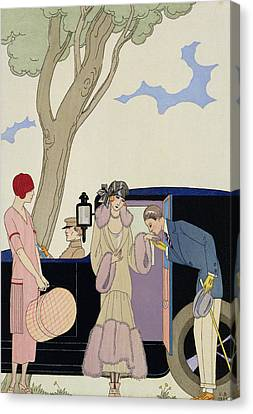 Glamor Canvas Print - Envy by Georges Barbier