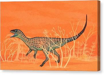 Eoraptor Dinosaur Canvas Print by Nemo Ramjet
