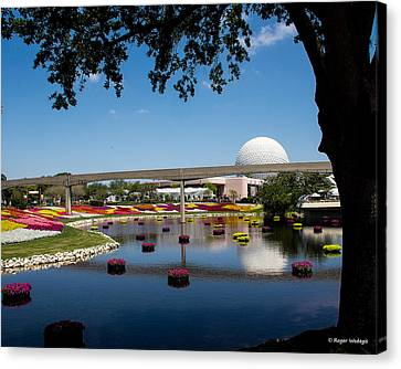 Epcot At Disney World Canvas Print by Roger Wedegis