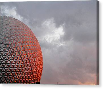 Canvas Print featuring the photograph Epcot by Greg Simmons
