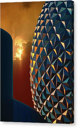 Canvas Print featuring the photograph Epcot by Kellice Swaggerty
