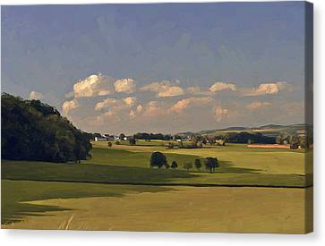 Epen In Summer By Briex After Photo Fred Fouarge Canvas Print