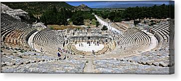Theater Of Ephesus Canvas Print by Stephen Stookey