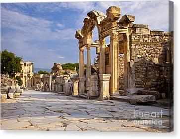 Library Of Celsus Canvas Print - Ephesus by Brian Jannsen
