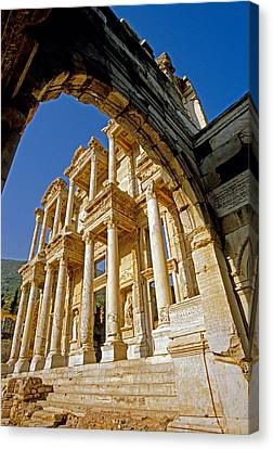 Ephesus Library 2 Canvas Print