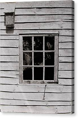 Canvas Print featuring the photograph Ephrata Cloisters Window by Jacqueline M Lewis