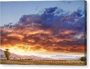 Epic Colorado Country Sunset Landscape Canvas Print by James BO  Insogna