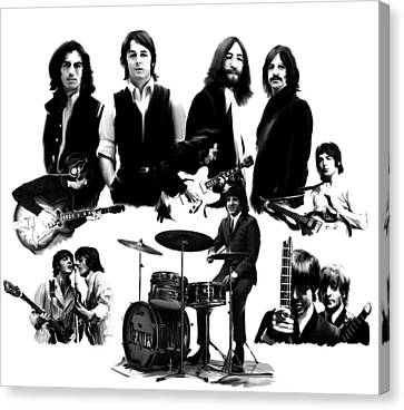 Epic The Beatles Canvas Print by Iconic Images Art Gallery David Pucciarelli