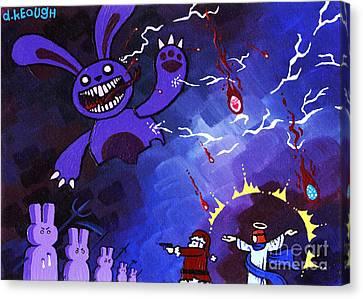 Epic Throwdown Greeting Card Size 5x7 Canvas Print by Dan Keough