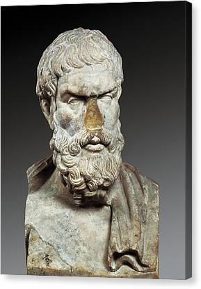 Epicurus 341-270 Bc. Greek Philosopher Canvas Print