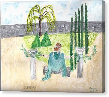 Canvas Print featuring the photograph Epidaurus  by Deborah Moen