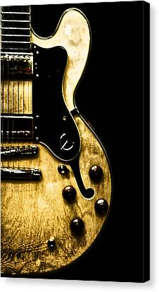 Epiphone Broadway Electric Guitar Canvas Print by Bill Cannon