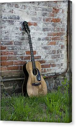 Epiphone Caballero Acoustic Guitar Canvas Print by Bill Cannon