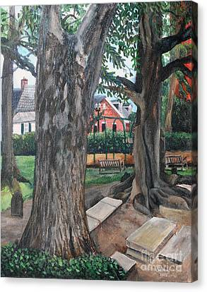 Episcopal Church Yard New Bern Canvas Print