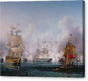 Against The War Canvas Print - Episode Of The Battle Of Navarino by Ambroise-Louis Garneray