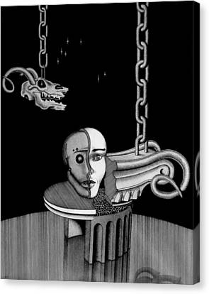 Epochal Connection Canvas Print by Geni Gorani