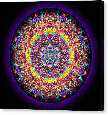 Canvas Print featuring the painting Equanimity by Jalai Lama