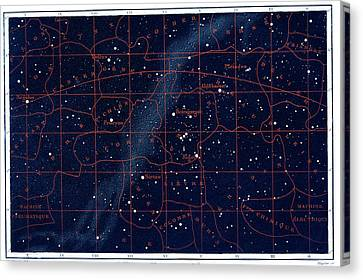 Constellations Canvas Print - Equatorial Constellations by Collection Abecasis