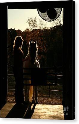 Equestrian Silhouette Canvas Print by Suzi Nelson