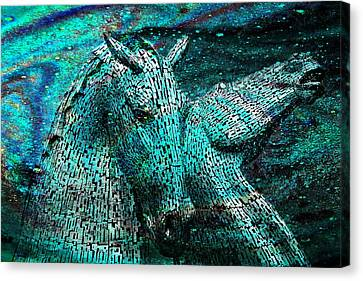 Equine Cosmos Canvas Print by Mike Marsden