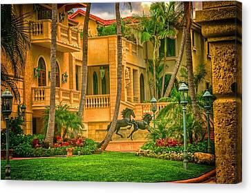 Canvas Print featuring the photograph Equine Villa  by Dennis Baswell