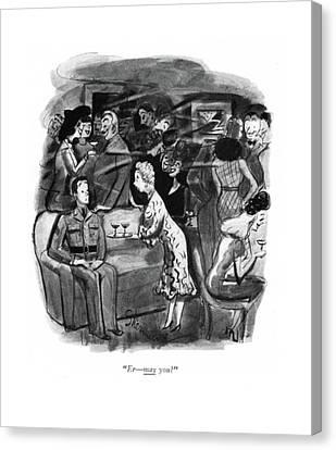 Er - May You? Canvas Print by Barbara Shermund