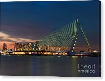 An Evening In Rotterdam Canvas Print