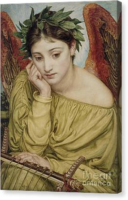 Erato Muse Of Poetry 1870 Canvas Print by Sir Edward John Poynter