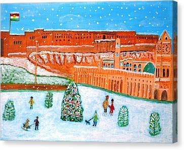 Erbil Citadel Christmas  Canvas Print by Magdalena Frohnsdorff