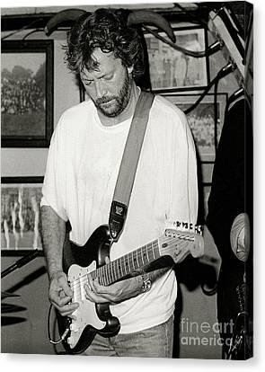 Eric Clapton 1988 Canvas Print by Chuck Spang