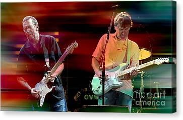 Eric Clapton And Steve Winwood Canvas Print by Marvin Blaine