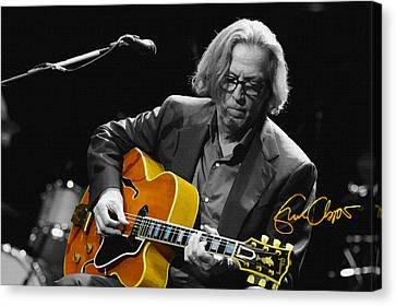 Eric Clapton Canvas Print by Don Kuing