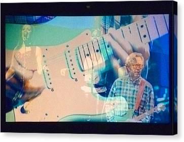 Eric Clapton Canvas Print by Gwen Rose