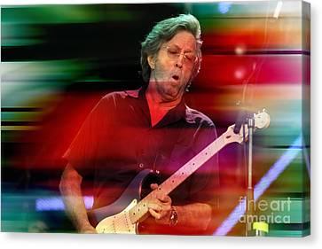 Eric Clapton Canvas Print by Marvin Blaine