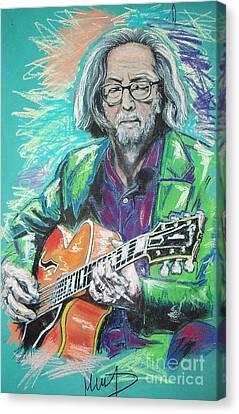 Eric Clapton Canvas Print by Melanie D