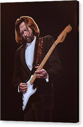 Eric Clapton Painting Canvas Print by Paul Meijering